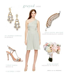 Grayed Jade or Dusty Shale Bridesmaid Dress