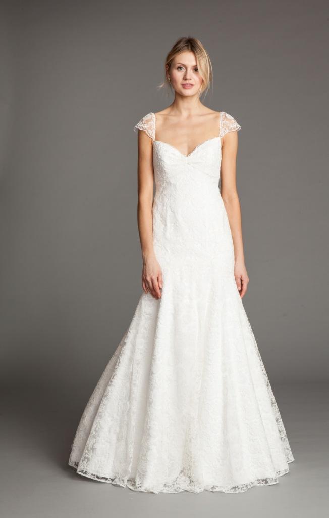 Leila Cap Sleeve Wedding Dress by Jenny Yoo