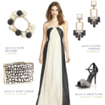 black white formal gown