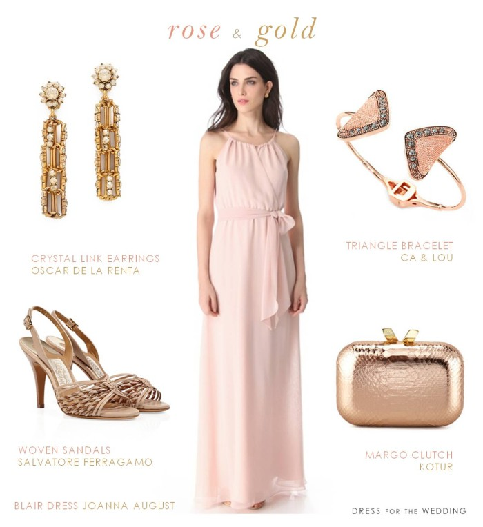 Blush and Rose Gold Dress