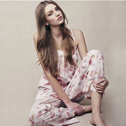Breezy Bloomfall Pant Set Plum Pretty Sugar for BHLDN