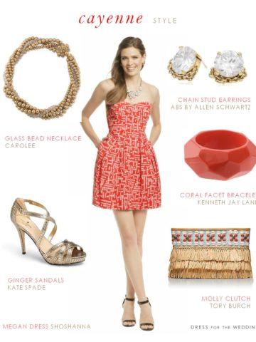Cayenne Dress for a Wedding