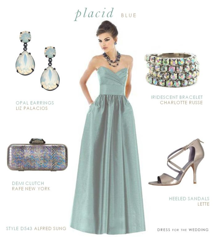Placid Blue Bridesmaid Dress