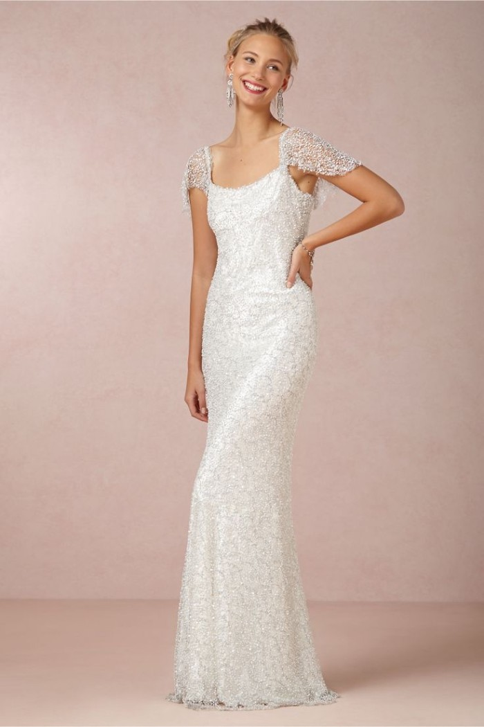 Snowflake Beaded Wedding Dress