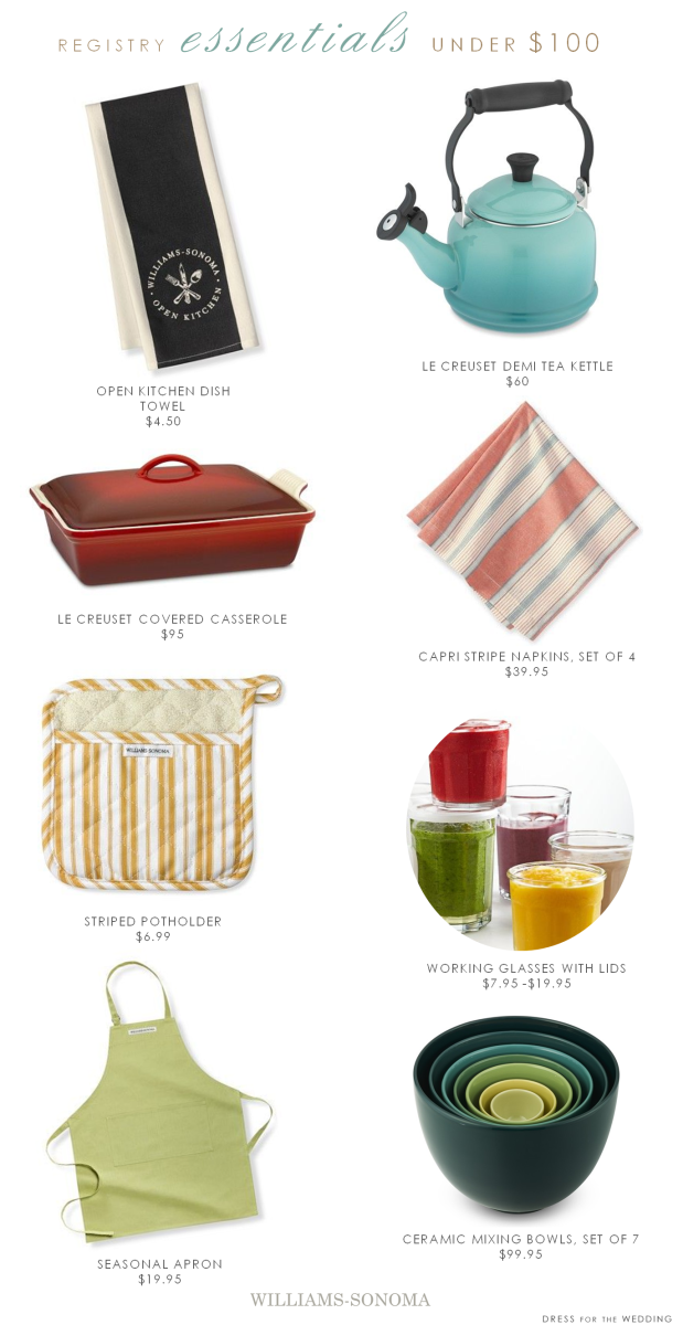 Wedding Registry Essentials with picks from Williams Sonoma