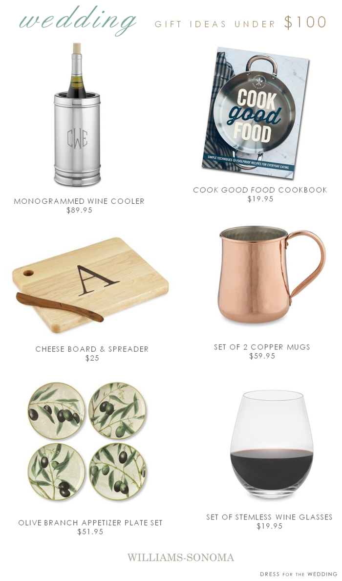 Wedding gifts under $100 from Williams Sonoma