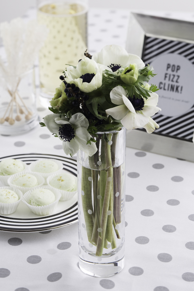anemones for a bridal shower