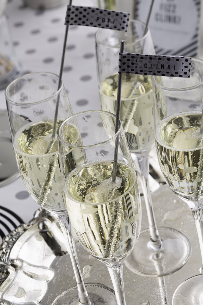 champagne with pop clink fizz stirrers