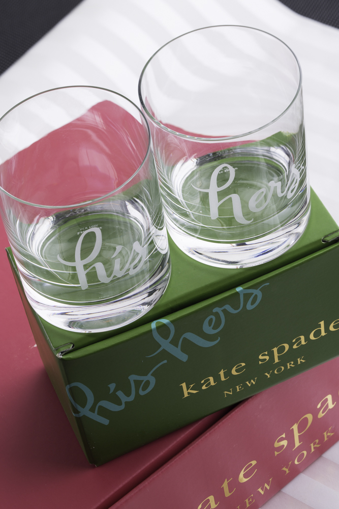 Wedding Shower Gift Ideas For Older Bride : kate spade new york his and hers glasses as a bridal shower gift