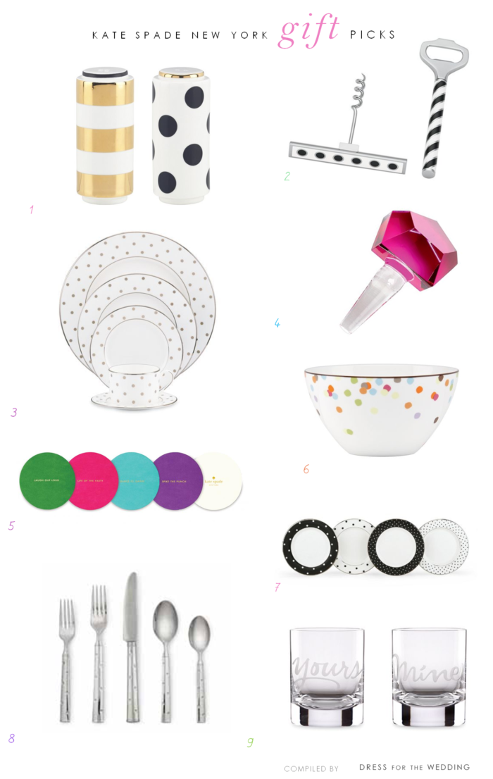 kate spade new york wedding gift ideas