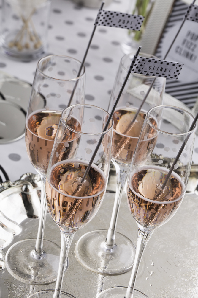 pop fizz clink drink flags at a kate spade new york  bridal brunch