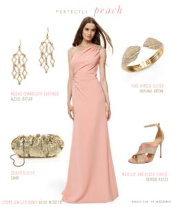 Peach formal gown