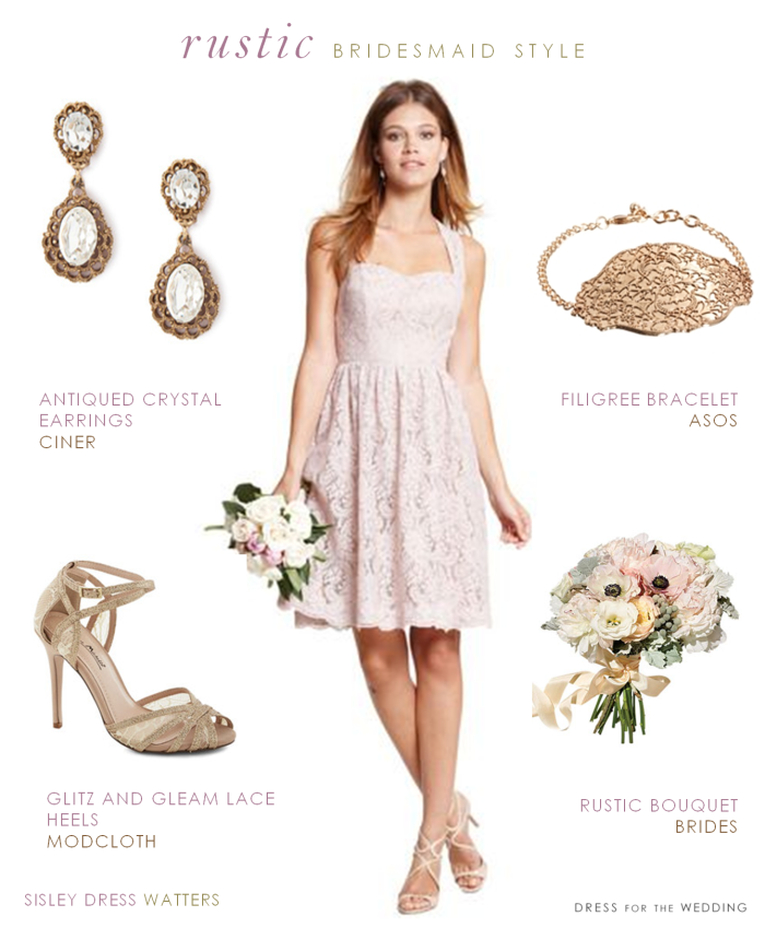 Bridesmaid Dress For A Rustic Wedding