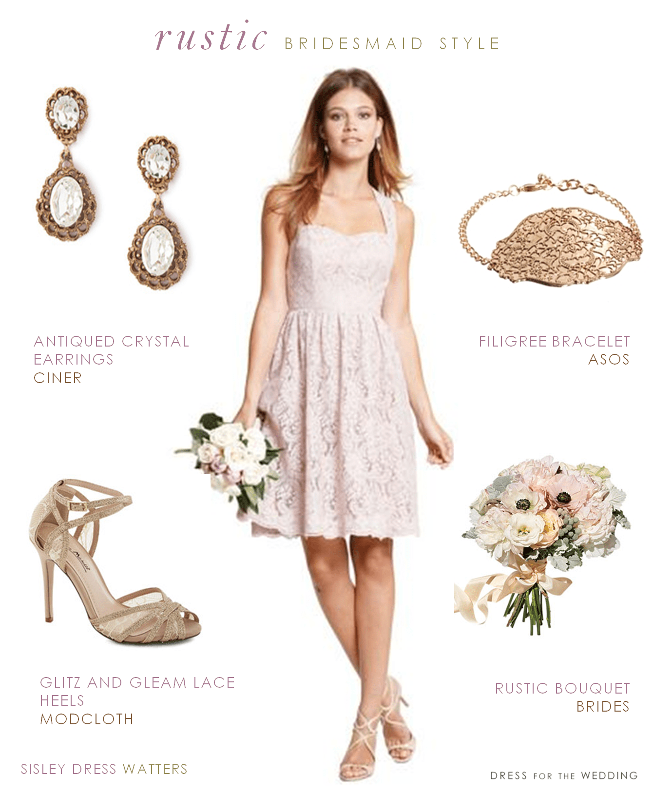 Bridesmaid Dress for a Rustic Wedding