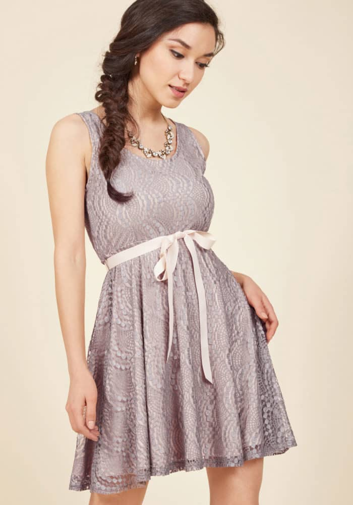Cute Lace Dress for a Wedding Guest of a Country Wedding