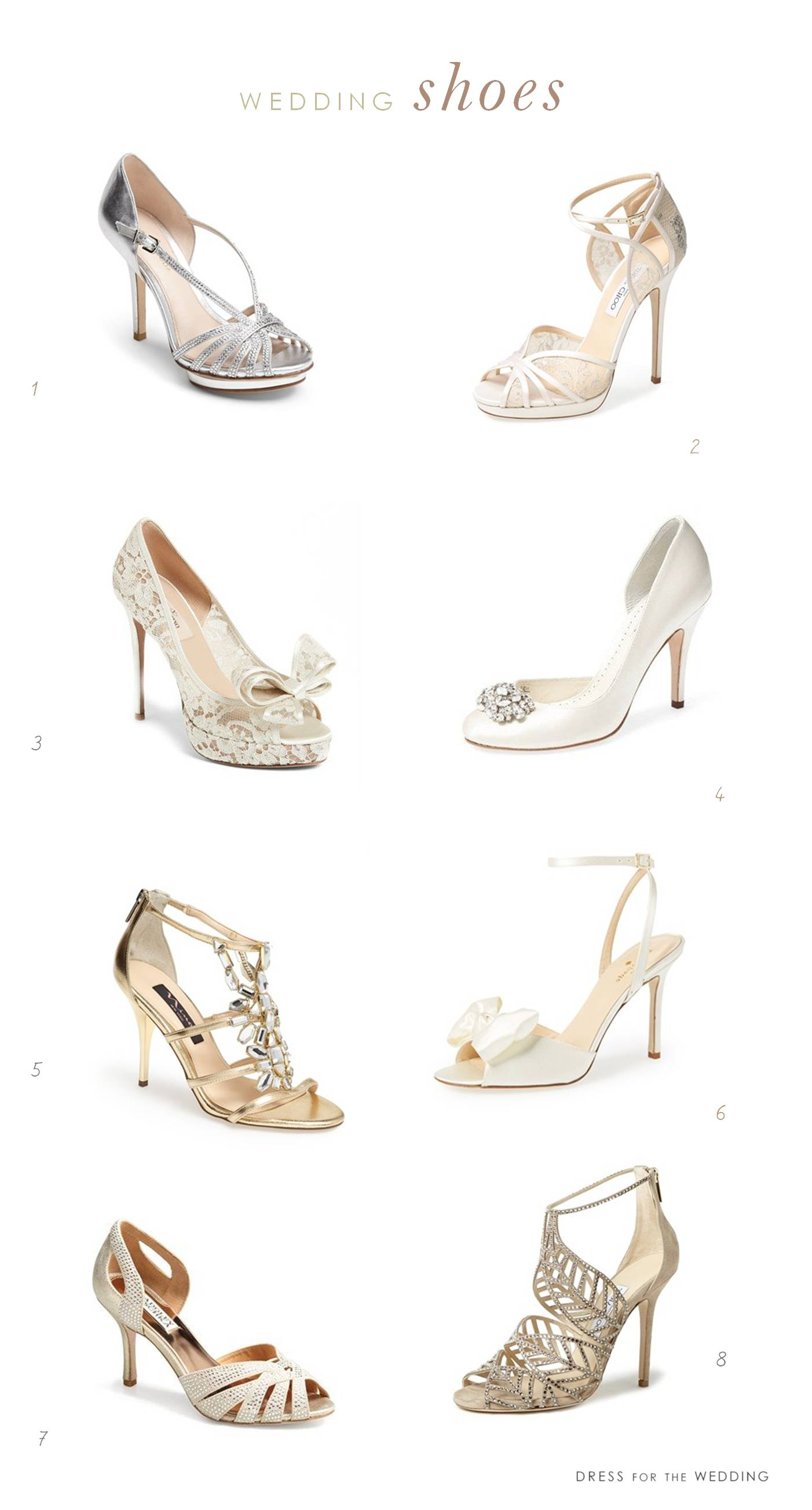 Of the best wedding shoes for brides