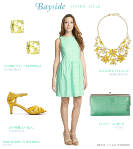 Mint Cotton Eyelet Dress