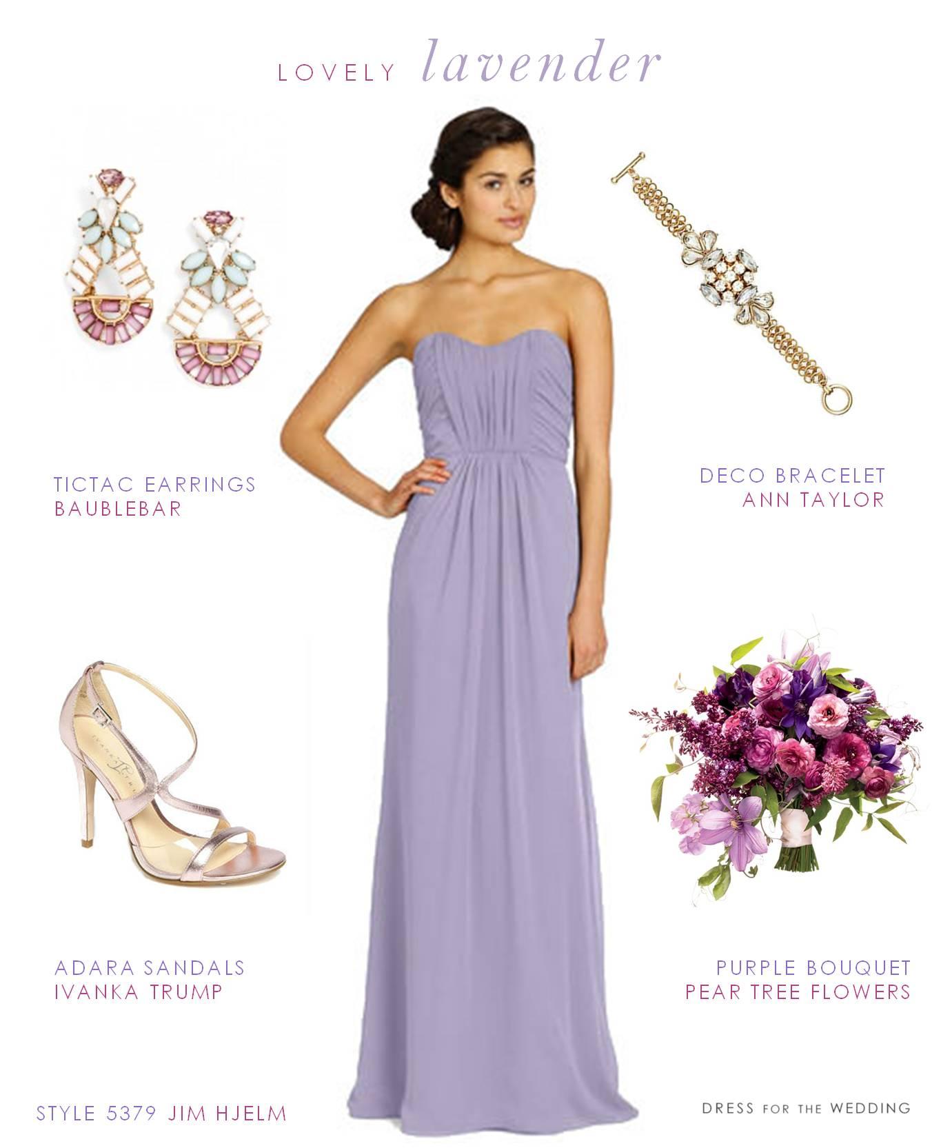 Full Length Lavender Bridesmaid Gown
