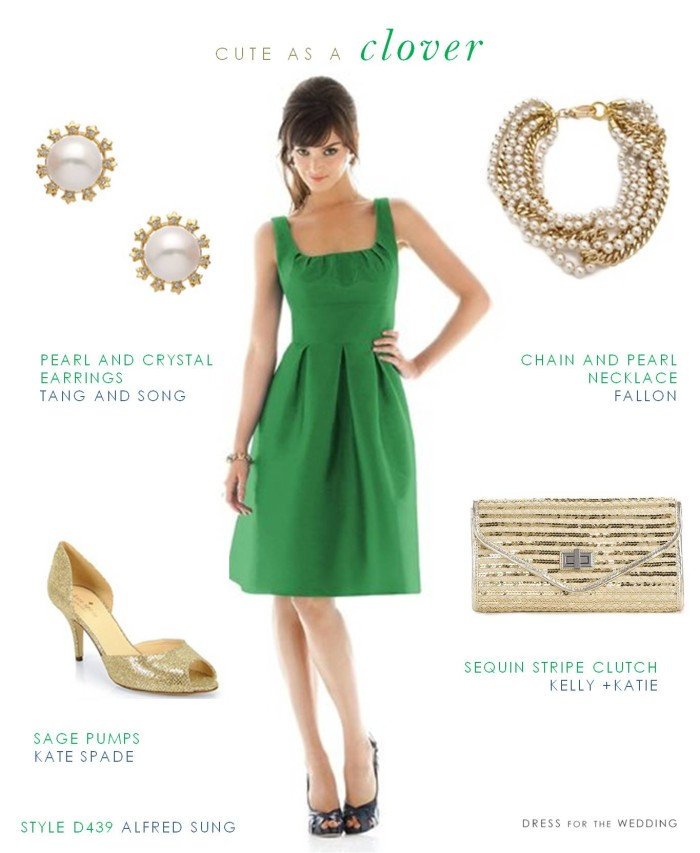 Cute Green Bridesmaid Dress