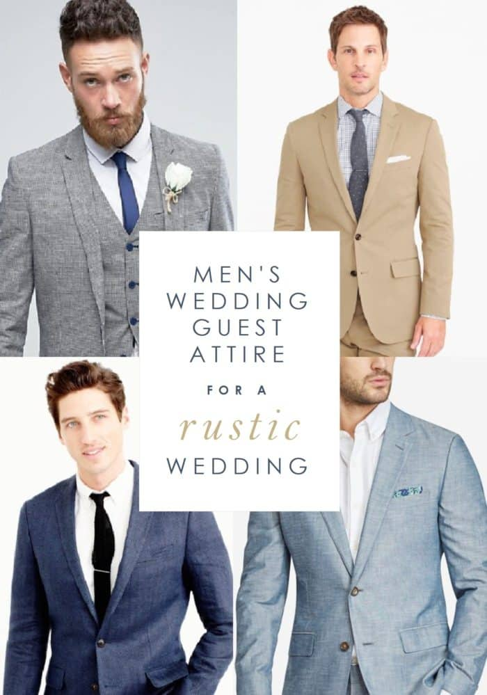 Wedding Guest Attire Ideas for Men for a Rustic Wedding
