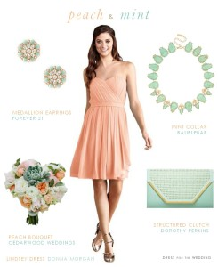 Peach and Mint Wedding Style
