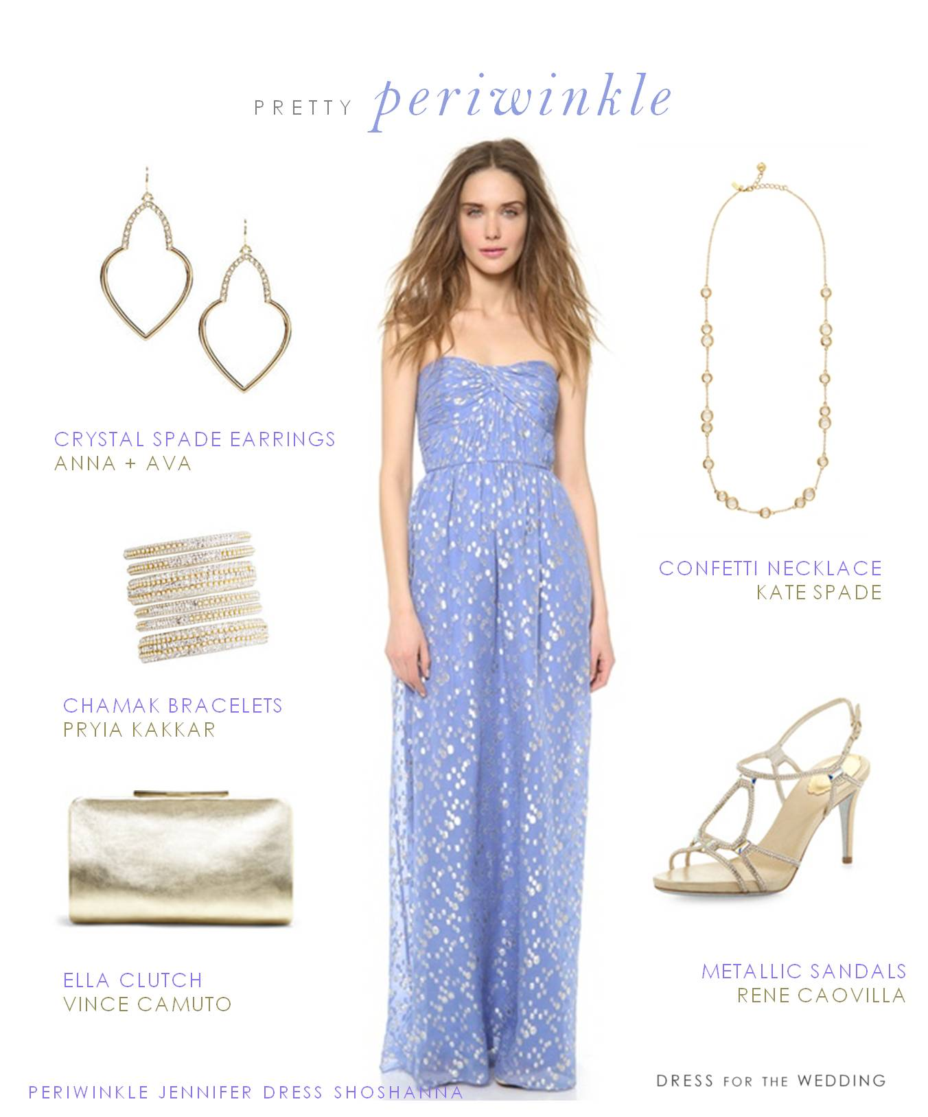 Periwinkle Gown by Shoshanna