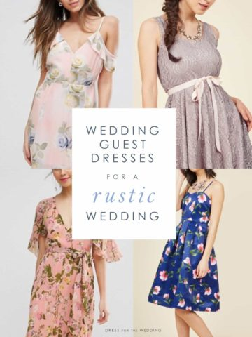 Wedding guest dresses for outdoor rustic weddings