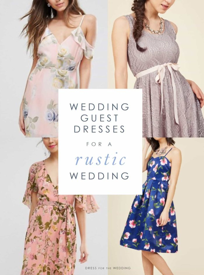 What should a guest wear to a rustic wedding for Wedding dresses for outdoor country wedding