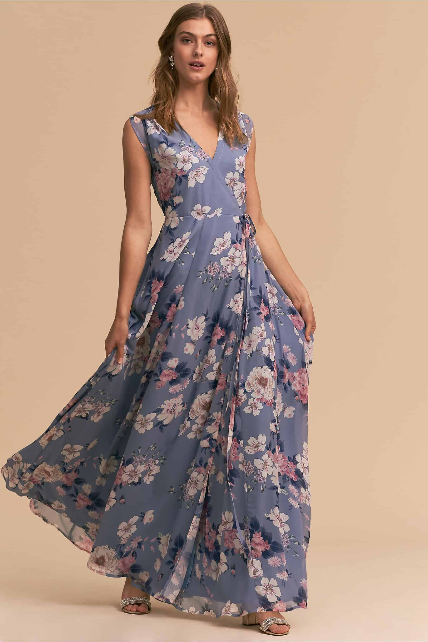 What should a guest wear to a rustic wedding for Floral dresses for weddings