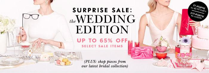 kate spade wedding surprise sale