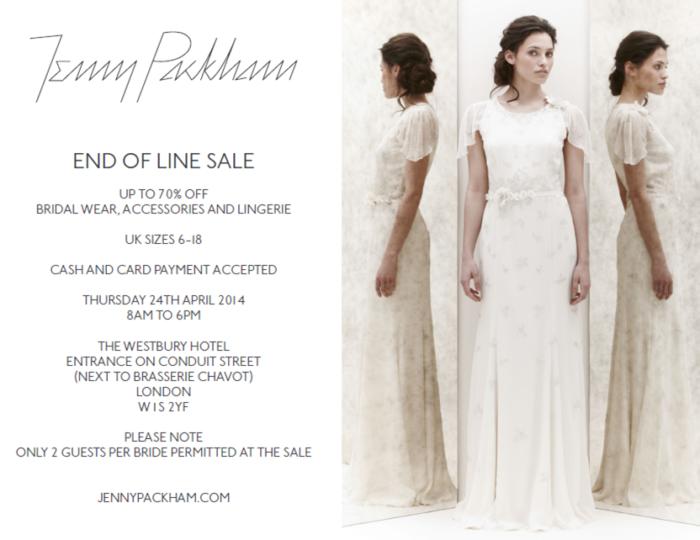 Jenny packham sample sale for Wedding dress samples for sale