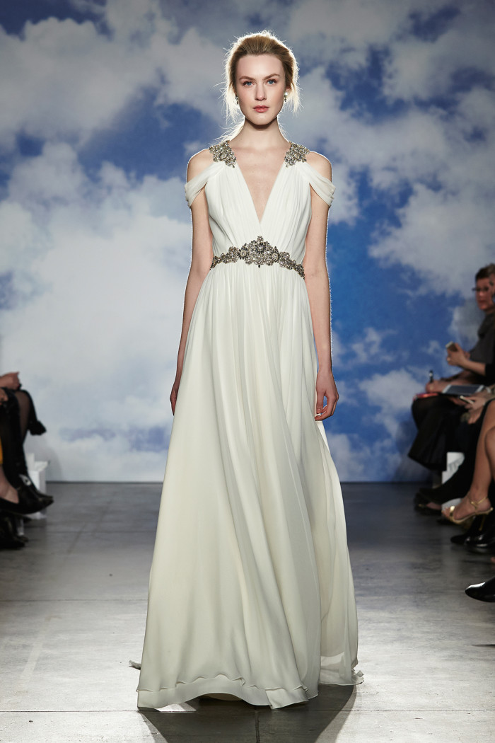 Goddess Like Gown by Jenny Packham Wedding Dresses Spring 2015 Look 13