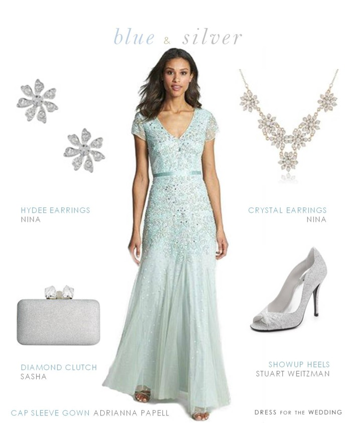 Light Blue Dress for Mother of the Bride