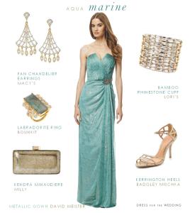 Aquamarine Evening Gown