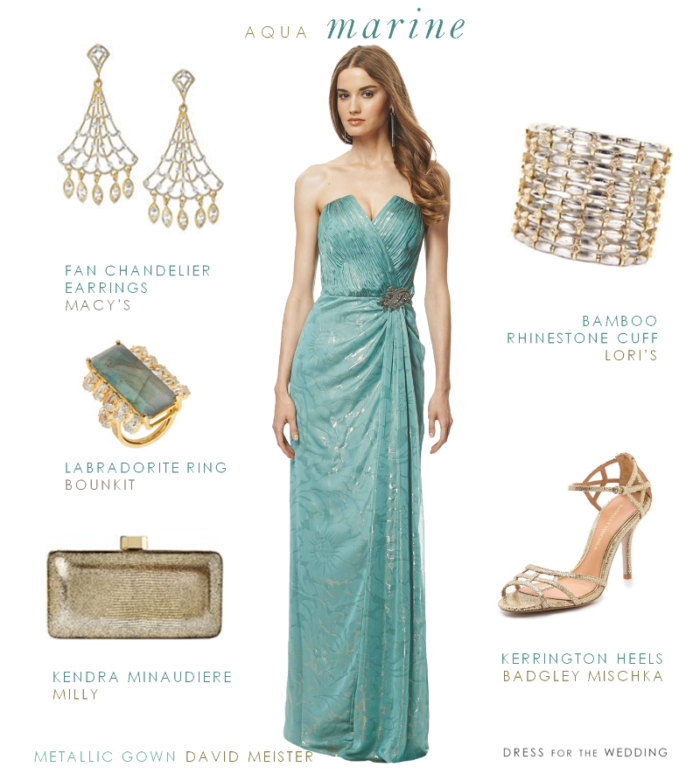 Aquamarine Evening Gown