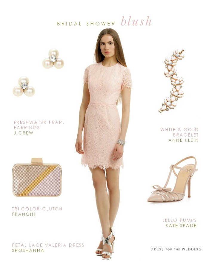 Blush Lace Dress Bridal Shower Dress