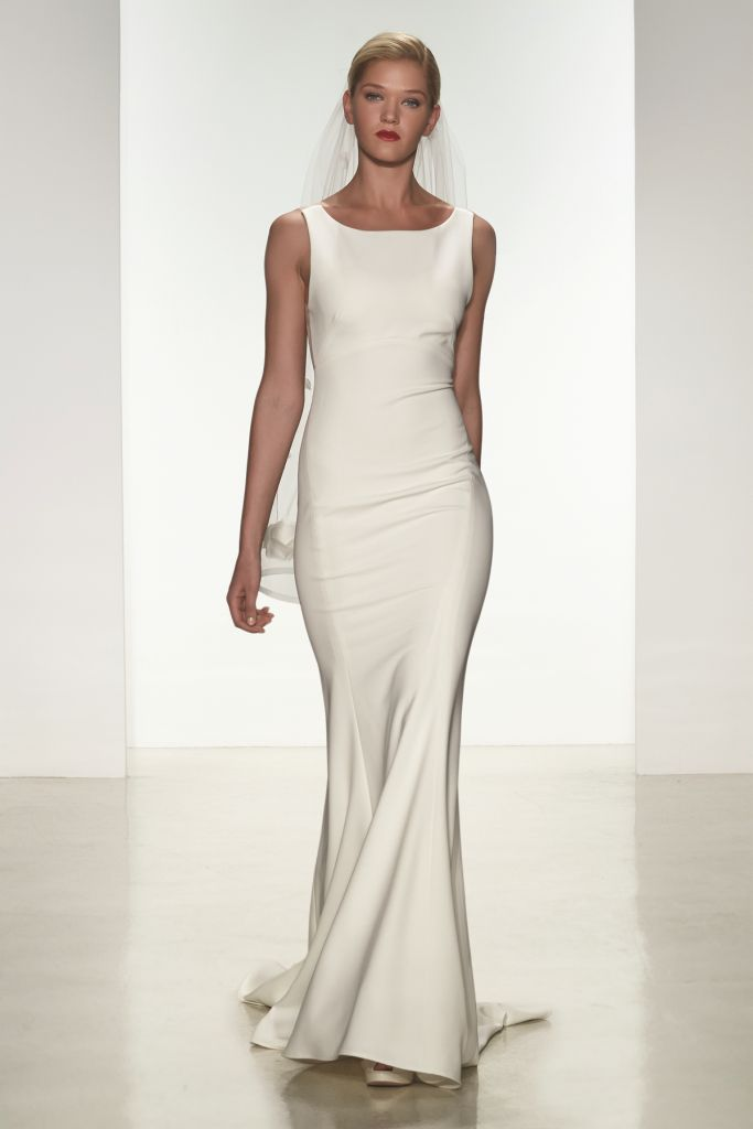 Heather Amsale Spring 2015 Sleek Wedding Dress