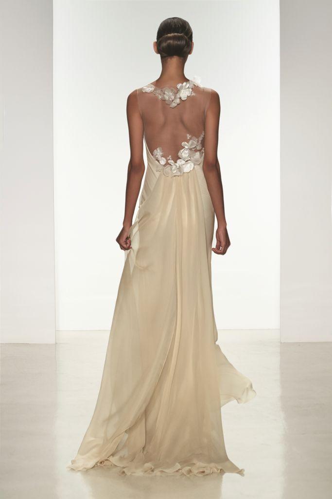 Jade back Amsale Bridal Gowns