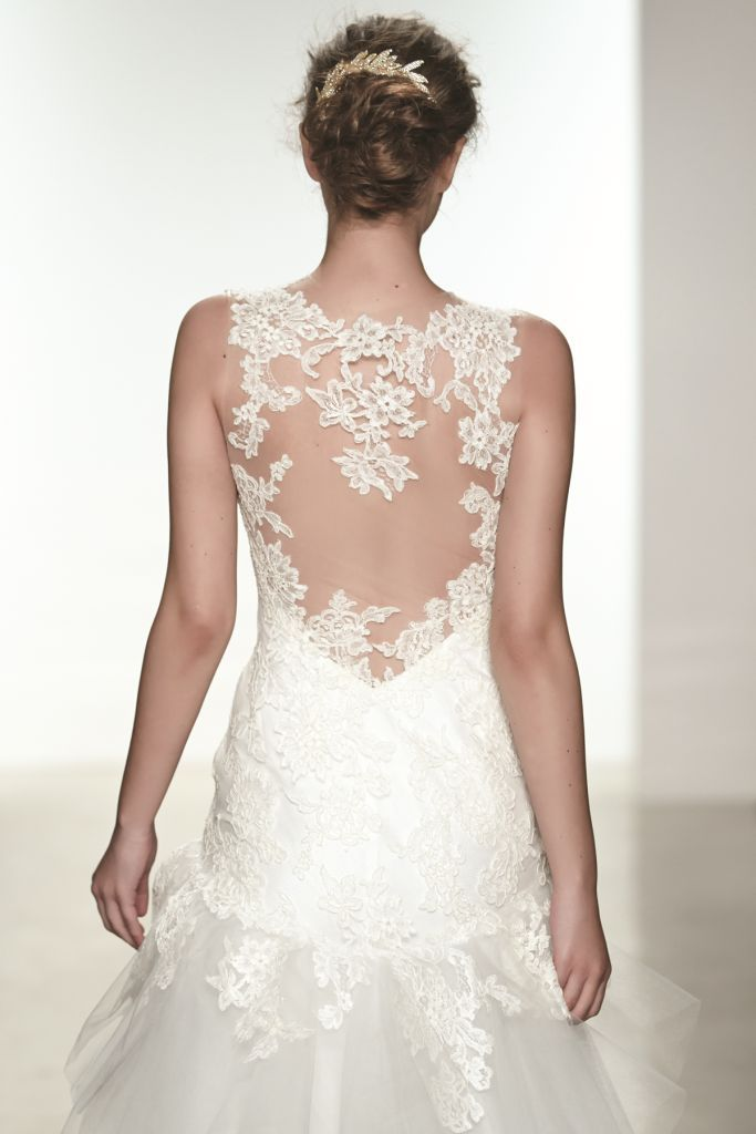 June by Christos, back lace detail