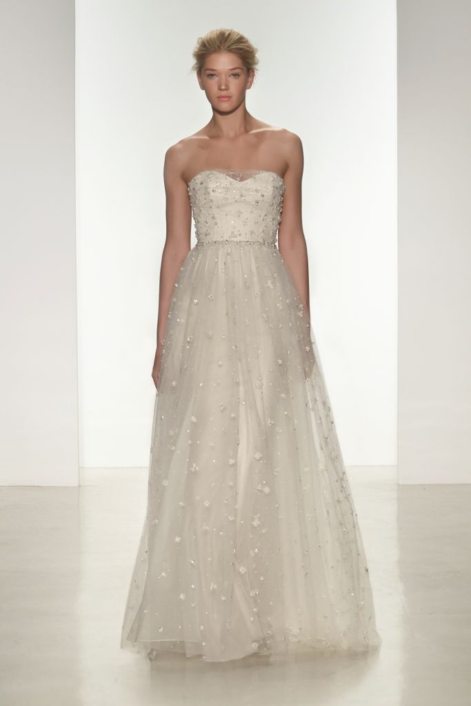 Kylie, a strapless beaded wedding  dress from Christos