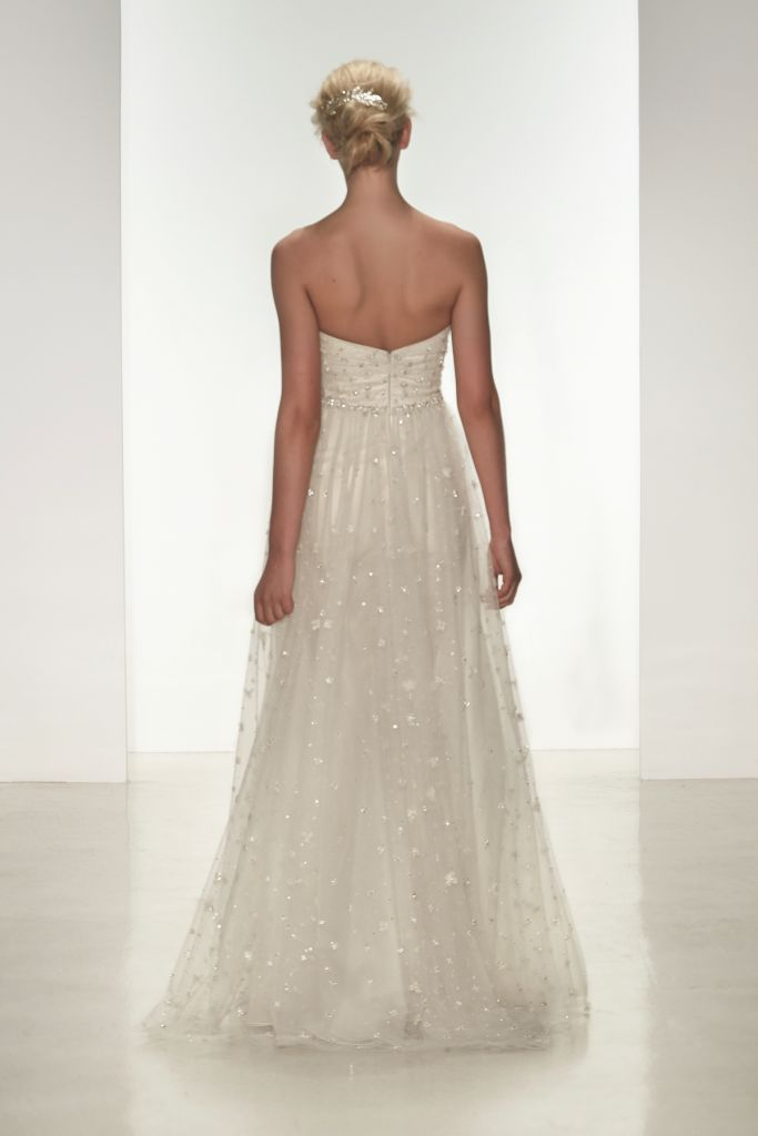 Kylie, strapless beaded bridal gown by Christos for Spring 2015