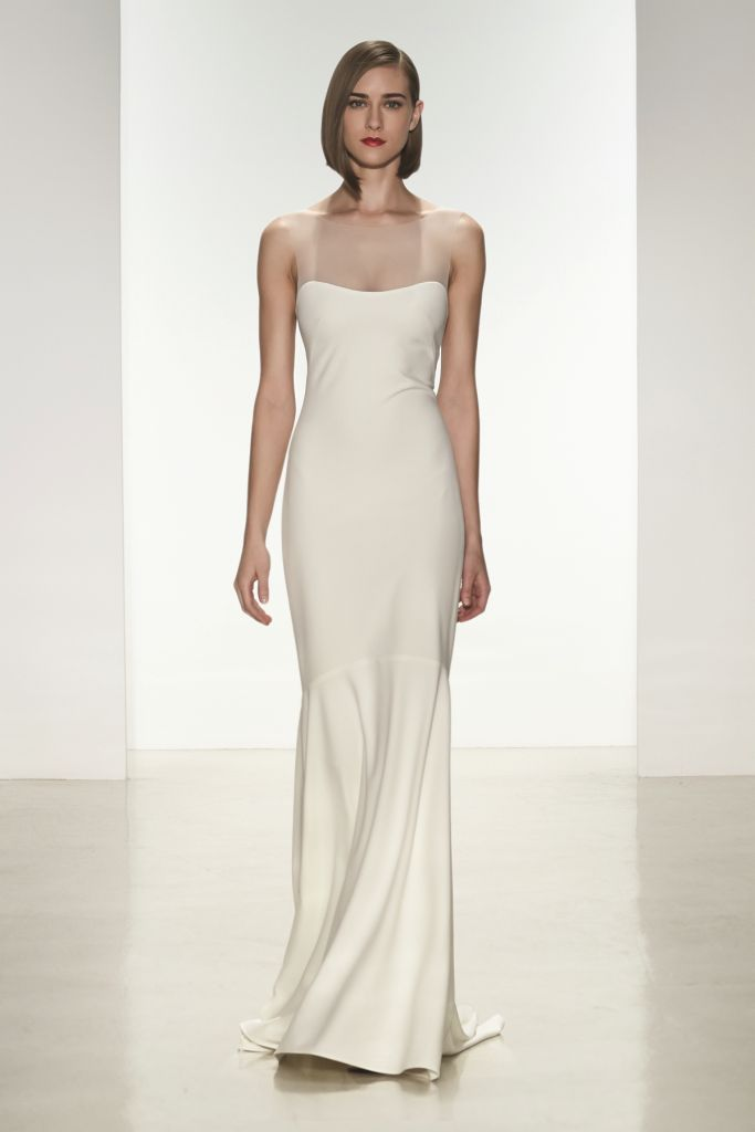 Designer wedding dresses amsale spring 2015 bridal collection for Dresses to wear to a wedding in may
