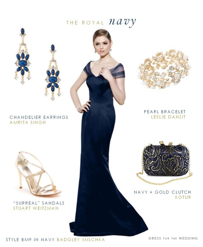 Navy Blue Gown for Mother of the Bride