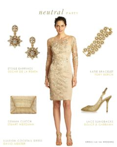 Neutral Dress for the Mother of the Bride