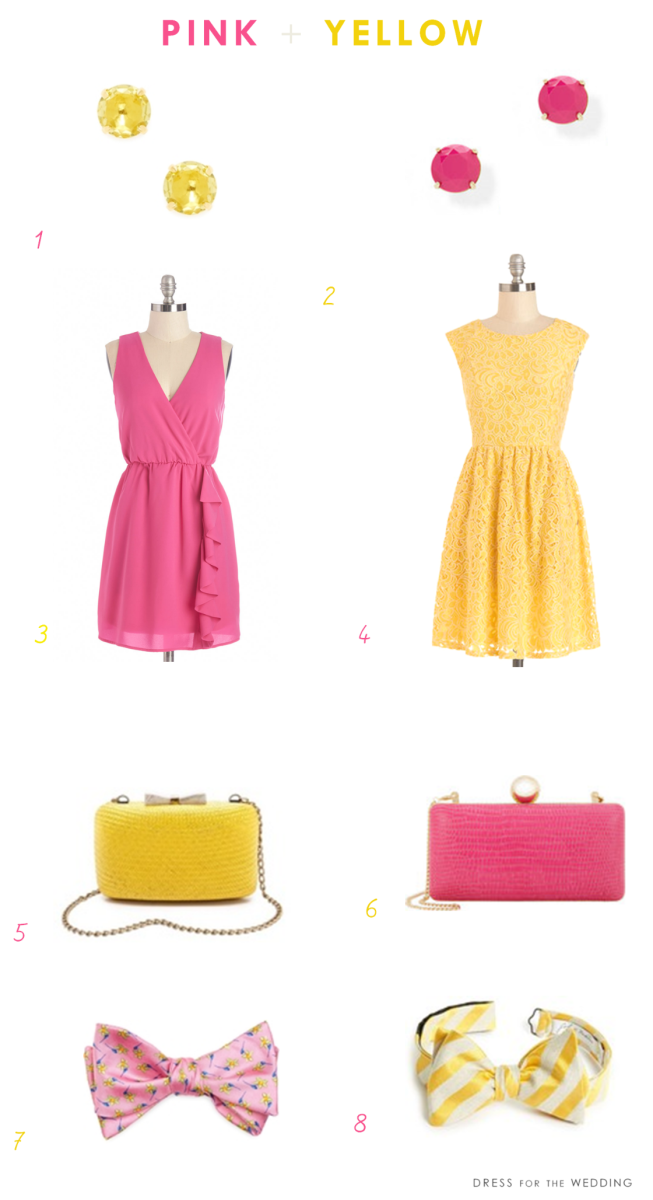Pink and Yellow | Yellow and Pink Wedding Ideas