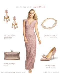 pink lace gown for a wedding for the mother of the bride