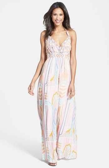 Pretty printed maxi dress