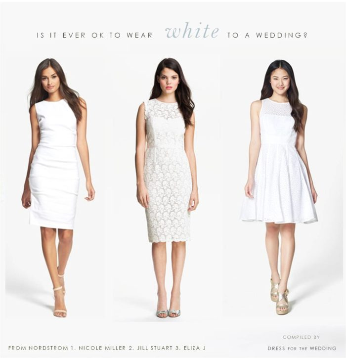 why not to wear white to a wedding
