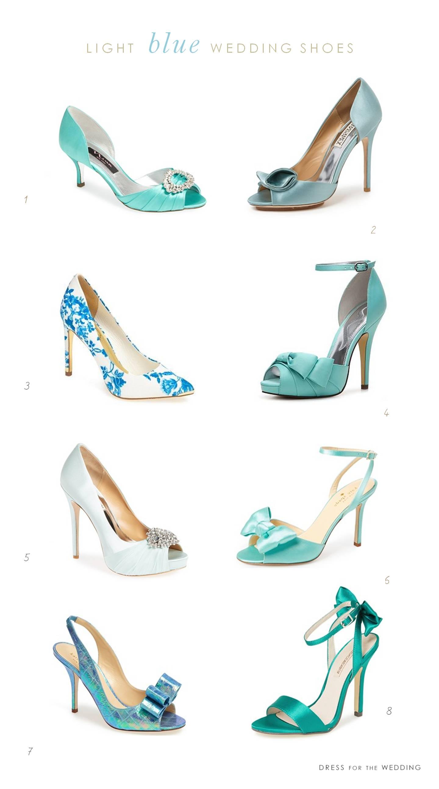 light blue wedding shoes