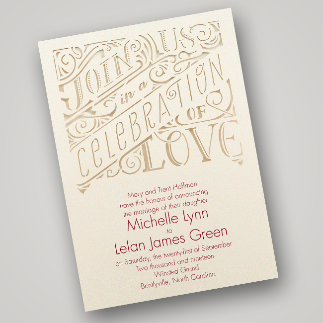 Lasercut Invitations